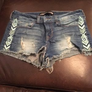 Express denim shorts size 4
